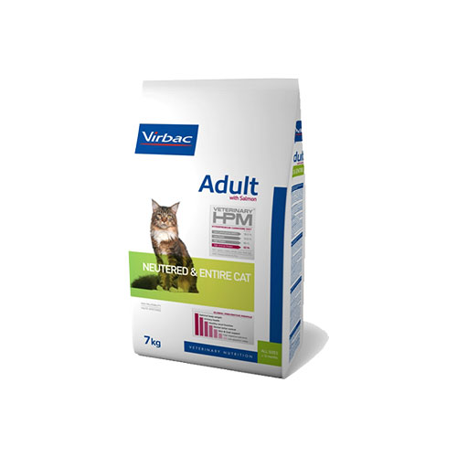 HPM ADULT CAT NEUTERED & ENTIRE SALMÃO - VIRBAC