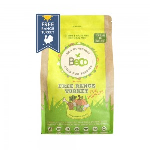 BECO FOOD PUPPY FREE RANGE TURKEY - WITH PUMPKIN & SPINACH
