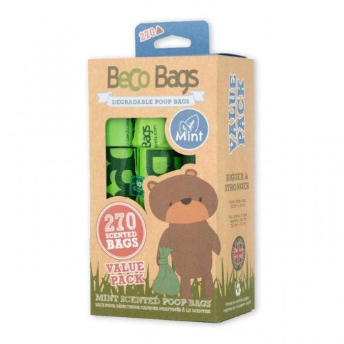 BECO POOP BAGS MINT SCENTED - SACOS BIODEGRADÁVEIS