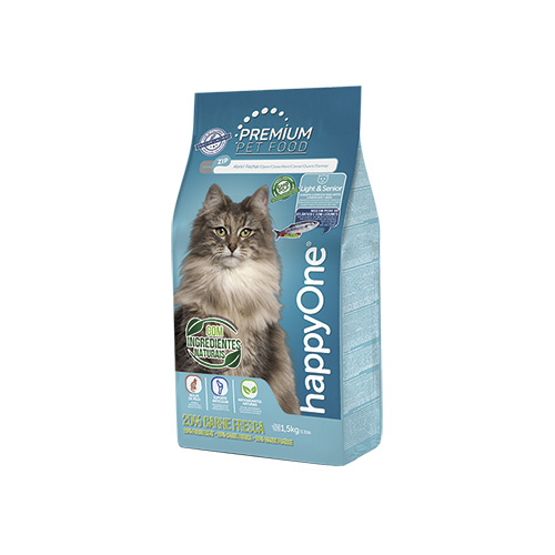 HAPPYONE PREMIUM GATO LIGHT & SENIOR - CARNE FRESCA