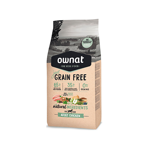 OWNAT JUST GRAIN FREE CÃO ADULT - CHICKEN
