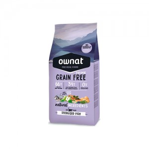 OWNAT GRAIN FREE PRIME GATO STERILISED - FISH
