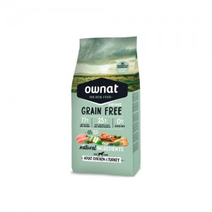 OWNAT GRAIN FREE PRIME CÃO ADULT - CHICKEN & TURKEY