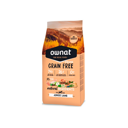 OWNAT GRAIN FREE PRIME CÃO JUNIOR - LAMB