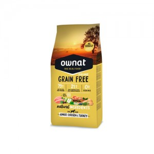 OWNAT GRAIN FREE PRIME CÃO JUNIOR - CHICKEN & TURKEY