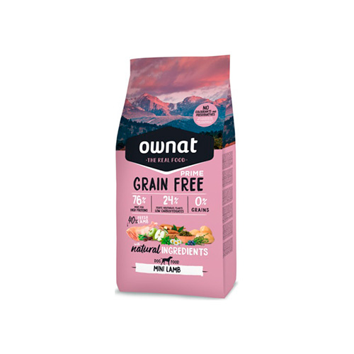 OWNAT GRAIN FREE PRIME CÃO MINI ADULT - LAMB
