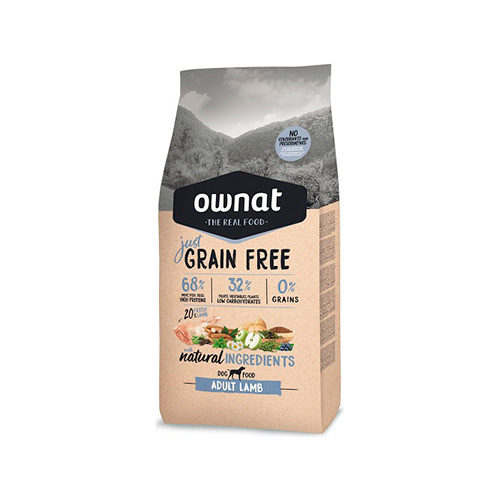 OWNAT JUST GRAIN FREE CÃO ADULT - LAMB