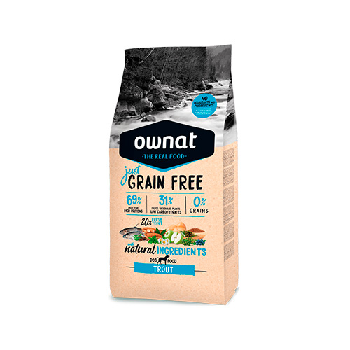 OWNAT JUST GRAIN FREE CÃO ADULT - TROUT