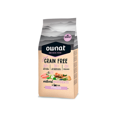 OWNAT JUST GRAIN FREE GATO STERILISED ADULT - CHICKEN