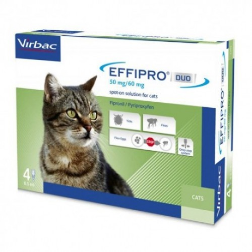 EFFIPRO DUO GATOS 50 MG - VIRBAC