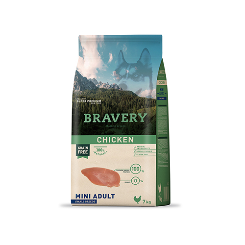 BRAVERY CHICKEN ADULT DOG MINI-SMALL (GRAIN FREE)