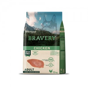 BRAVERY CHICKEN ADULT DOG MEDIUM-LARGE (GRAIN FREE)