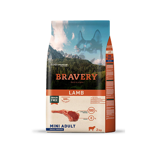 BRAVERY LAMB ADULT MINI-SMALL (GRAIN FREE) - CÃO