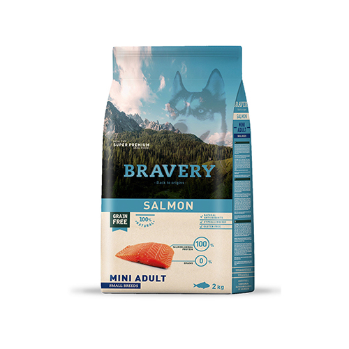 BRAVERY SALMON ADULT DOG MINI-SMALL (GRAIN FREE)