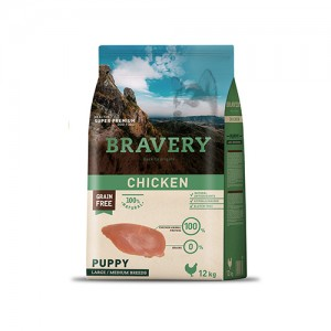 BRAVERY CHICKEN PUPPY MEDIUM-LARGE (GRAIN FREE) - CÃO
