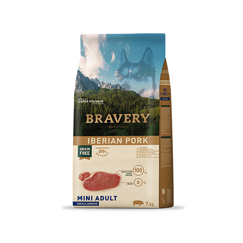 BRAVERY IBERIAN PORK ADULT MINI-SMALL (GRAIN FREE) - CÃO