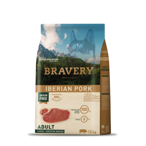 BRAVERY IBERIAN PORK ADULT DOG MEDIUM-LARGE (GRAIN FREE)