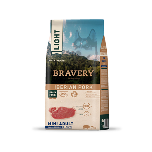 BRAVERY IBERIAN PORK ADULT DOG MINI-SMALL LIGHT (GRAIN FREE)