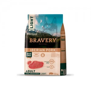 BRAVERY IBERIAN PORK ADULT DOG MEDIUM-LARGE LIGHT (GRAIN FREE)