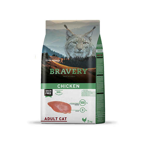 BRAVERY CHICKEN ADULT CAT (GRAIN FREE)
