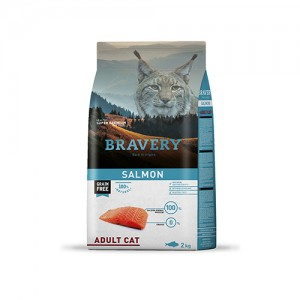 BRAVERY SALMON ADULT CAT (GRAIN FREE)