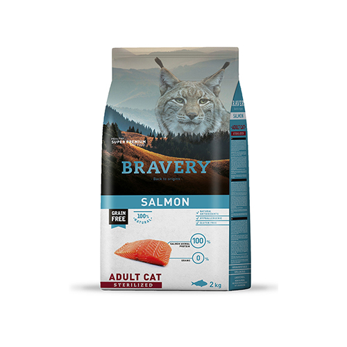 BRAVERY SALMON ADULT CAT STERILIZED (GRAIN FREE)