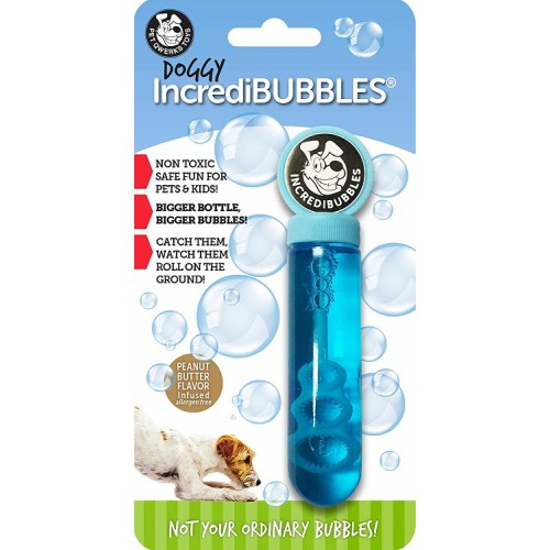 PET QWERKS DOGGY INCREDIBUBBLES - SABOR MANTEIGA AMENDOIM