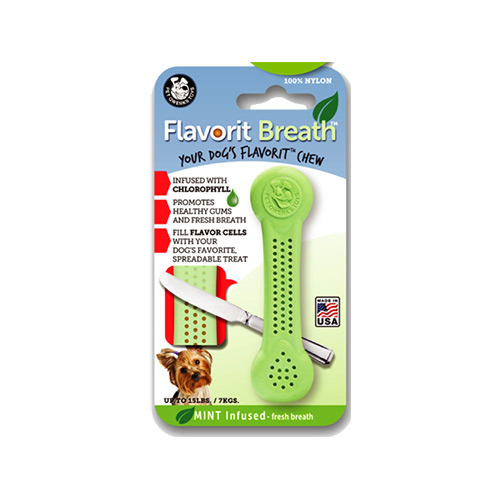 FLAVORIT NYLON BONE WITH MINT FLAVOR INFUSED