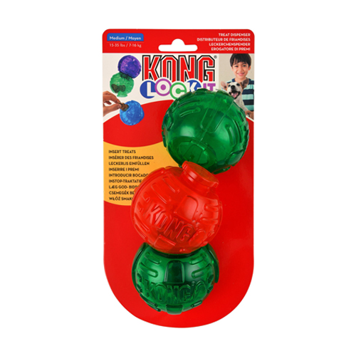 KONG LOCK-IT - MULTI-COLOR HOLIDAY