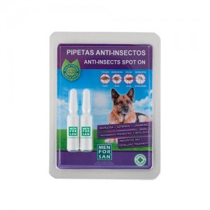 PIPETAS ANTI-INSECTOS NATURAL PARA CÃES - MENFORSAN