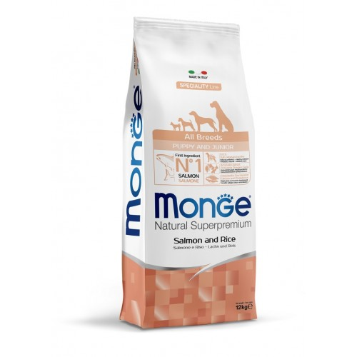 MONGE SPECIALITY LINE ALL BREADS PUPPY SALMON & RICE