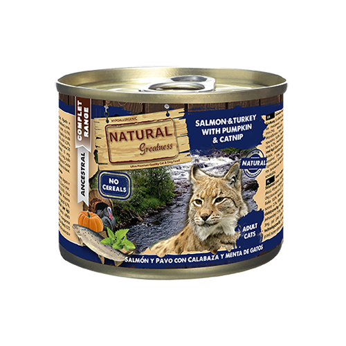 NATURAL GREATNESS CAT SALMON AND TURKEY WITH PUMPKIN & CATNIP