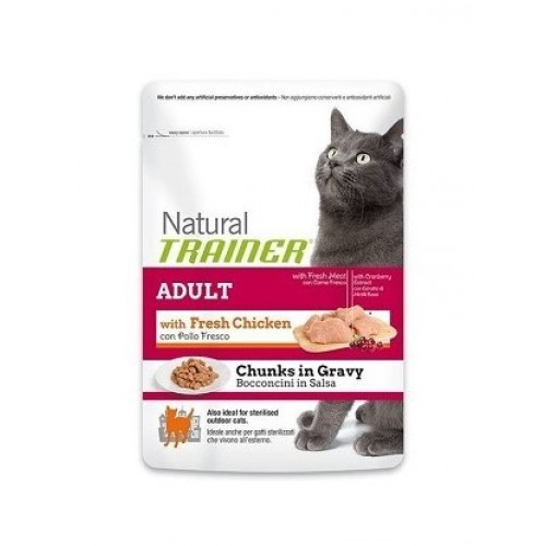 NATURAL TRAINER ADULT CAT CHICKEN - FRANGO EM MOLHO