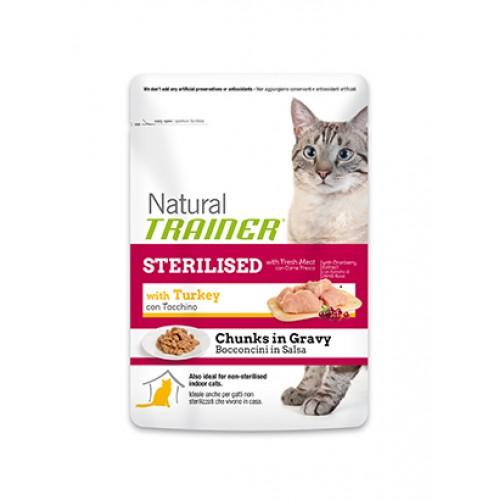 NATURAL TRAINER ADULT STERILISED TURKEY -  PERÚ EM MOLHO