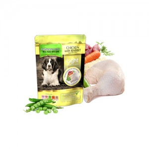 NATURES MENU DOG POUCH LIGHT - CHICKEN & RABBIT