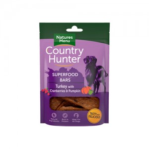 NATURES MENU COUNTRY HUNTER DOG SUPERFOOD BARS TURKEY & PUMPKIN