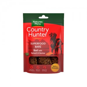 NATURES MENU COUNTRY HUNTER DOG SUPERFOOD BARS BEEF & QUINOA