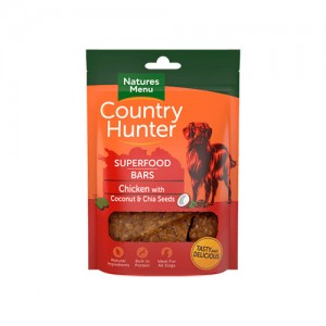NATURES MENU COUNTRY HUNTER DOG SUPERFOOD BARS CHICKEN & CHIA SEEDS