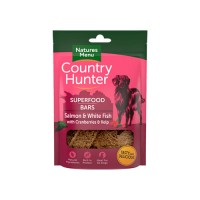 NATURES MENU COUNTRY HUNTER DOG SUPERFOOD BARS SALMON & WHITE FISH