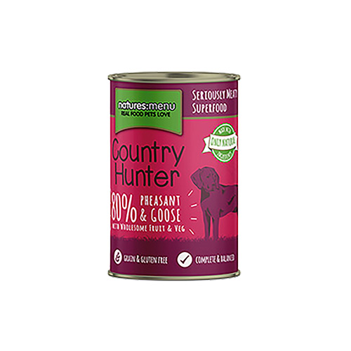 NATURES MENU DOG COUNTRY HUNTER CANS PHEASANT & GOOSE