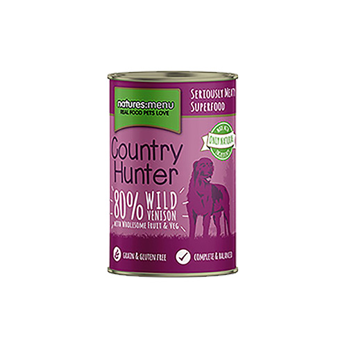 NATURES MENU DOG COUNTRY HUNTER CANS VENISON & BLUEBERRY