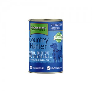 NATURES MENU DOG COUNTRY HUNTER CANS WILD BOAR