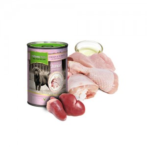 NATURES MENU DOG CANS JUNIOR - CHICKEN & TURKEY