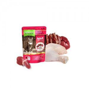 NATURES MENU CAT POUCH - BEEF & CHICKEN