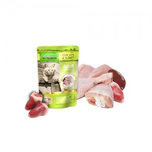 NATURES MENU CAT POUCH - CHICKEN & TURKEY