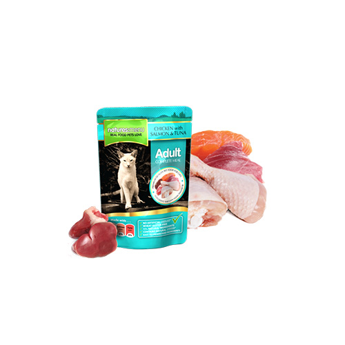 NATURES MENU CAT POUCH - SALMON & TUNA