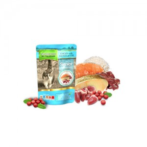 NATURES MENU CAT POUCH SENIOR - CHICKEN & SALMON