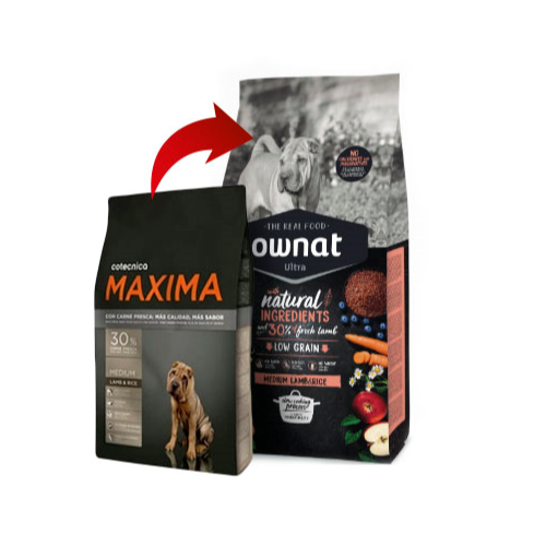 OWNAT ULTRA CÃO MEDIUM ADULTO - BORREGO
