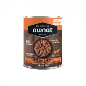 OWNAT WETLINE DOG - CHICKEN AND CARROTS
