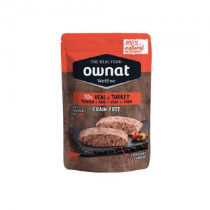 OWNAT WETLINE CAT - VEAL AND TURKEY
